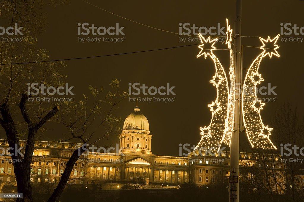 Budavár Palace at christmas royalty-free stock photo
