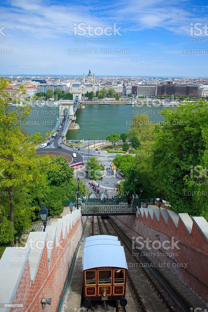 Budavári Sikló, Funicular, Budapest stock photo