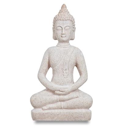 Budda figurine on white background