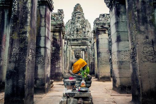 Buddha Ancient Civilisation Angkor Cambodia Stock Photo - Download Image Now