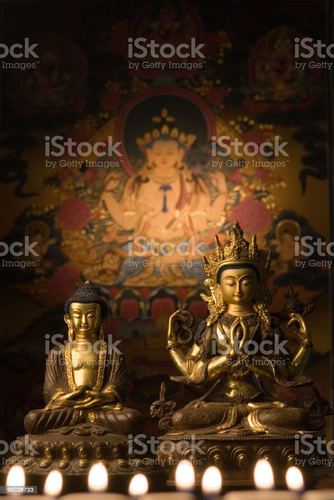 Buddha and Shiva royalty-free stock photo