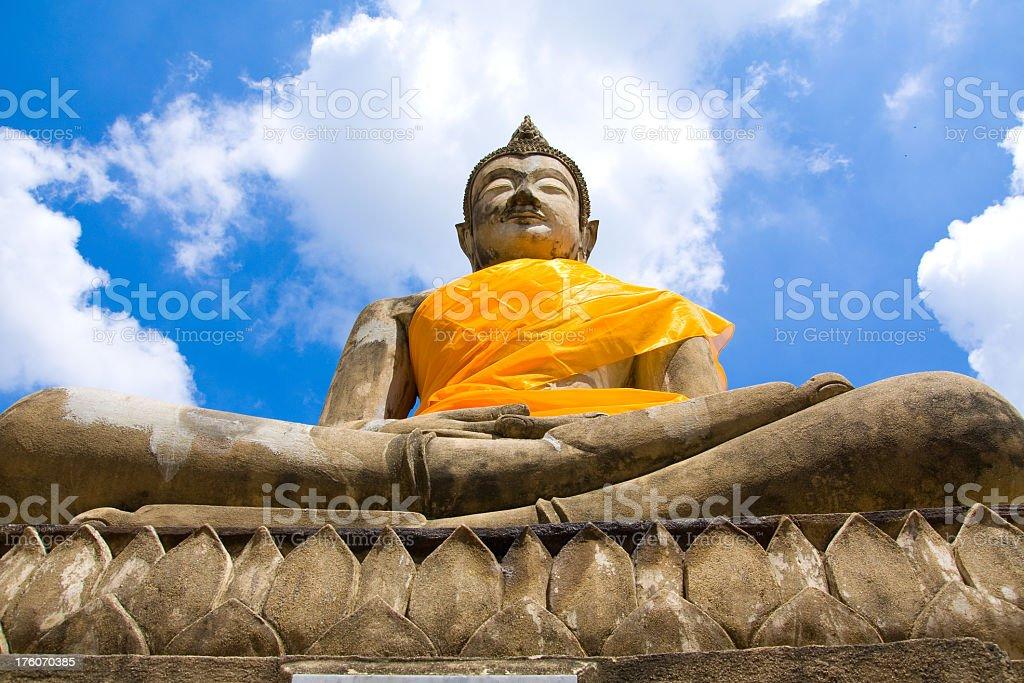 Buddha at ayuthaya royalty-free stock photo