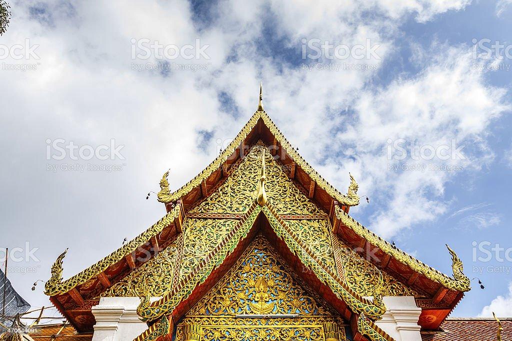 Buddha at temple, Chiang Mai, Thailand stock photo