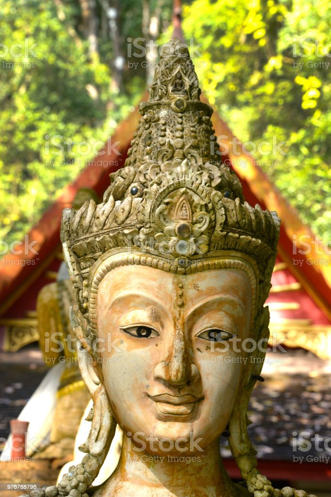 Buddha At Wat Pha Lat stock photo