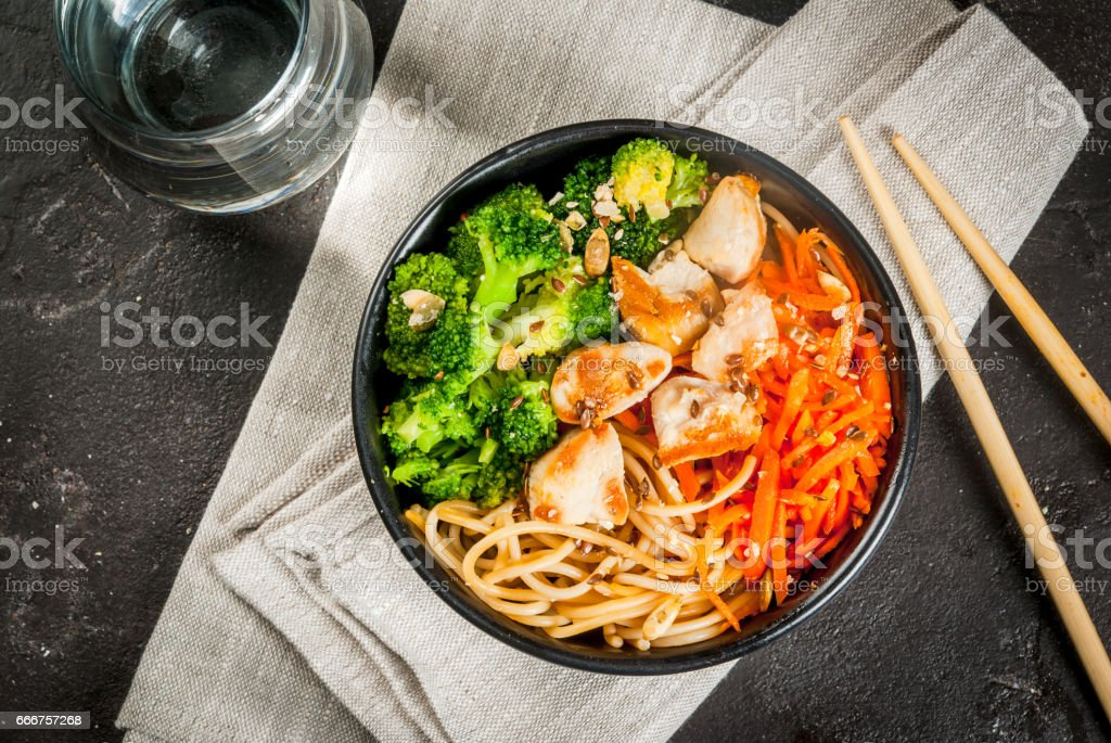 Buddha bowl in Asian style foto stock royalty-free