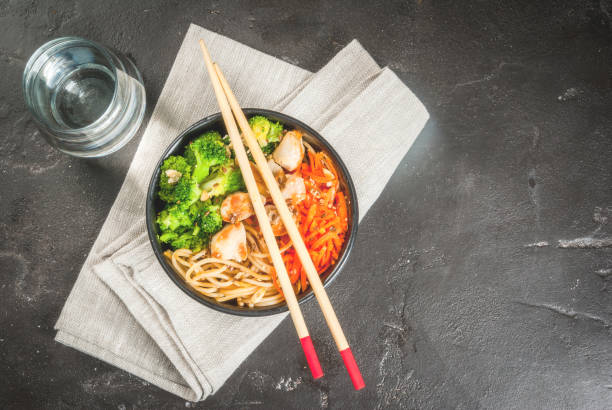 Buddha bowl in Asian style stock photo