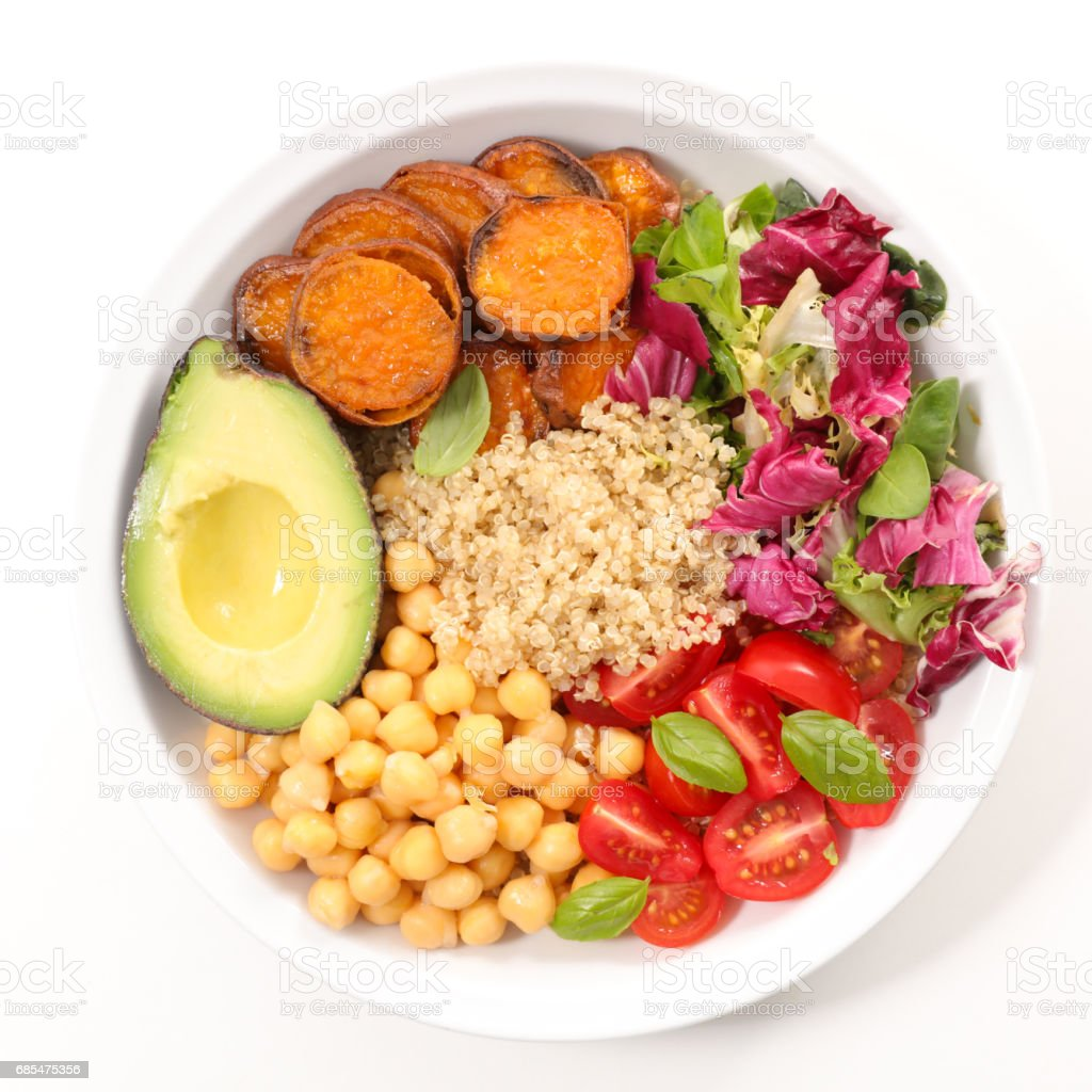 buddha bowl,vegetarian meal stock photo