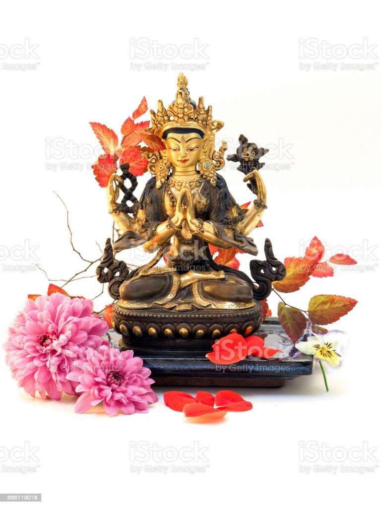 Buddha Chenrezig stock photo