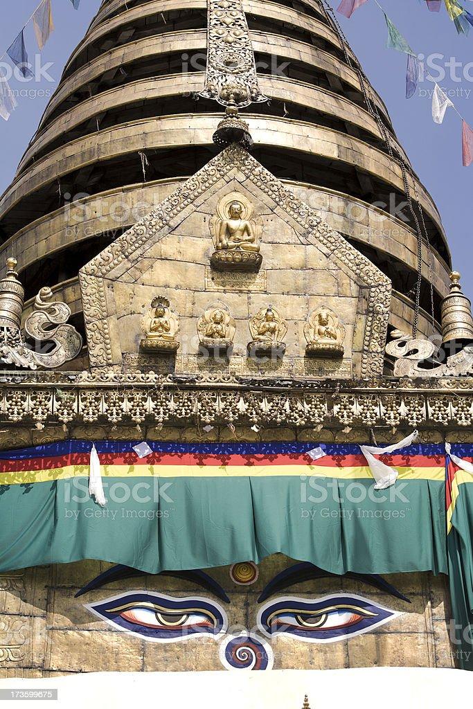 Buddha eyes on Stupa royalty-free stock photo