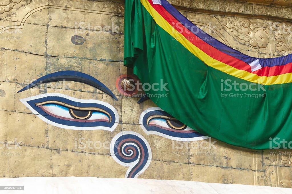 Buddha eyes on Swayambhunath stock photo