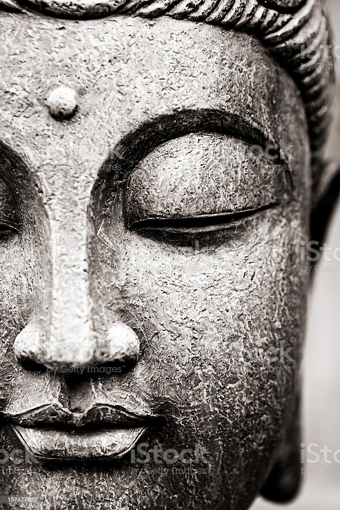 Buddha Face stock photo