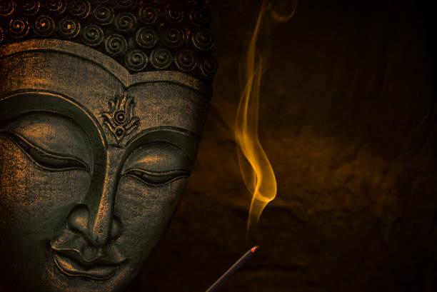 boeddha gezicht - buddha stockfoto's en -beelden