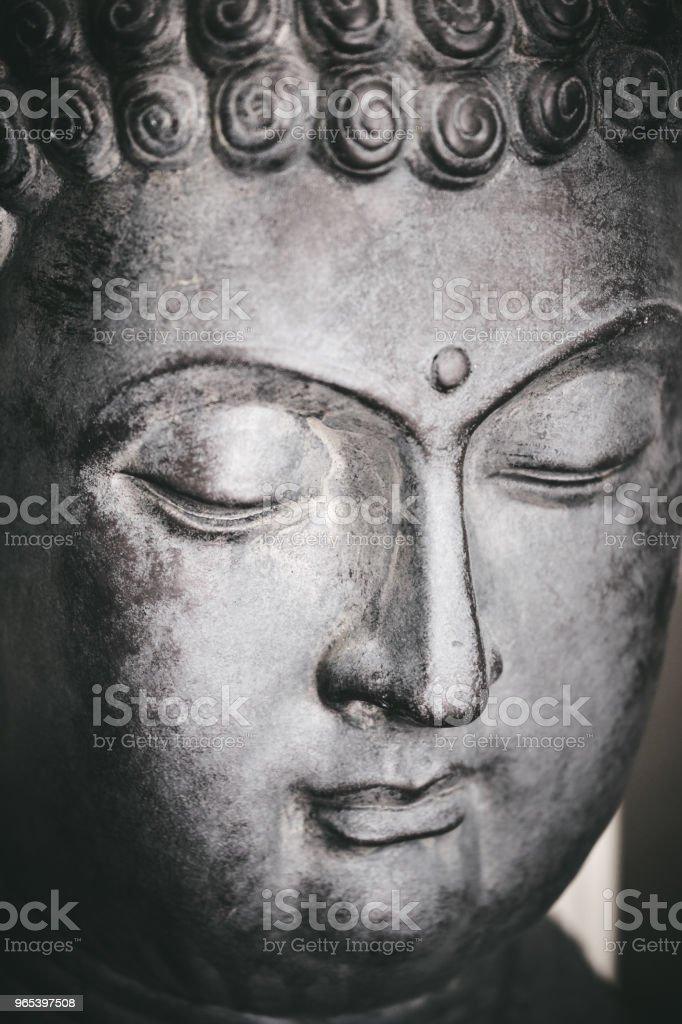 Buddha Gesicht - Lizenzfrei Betrachtung Stock-Foto