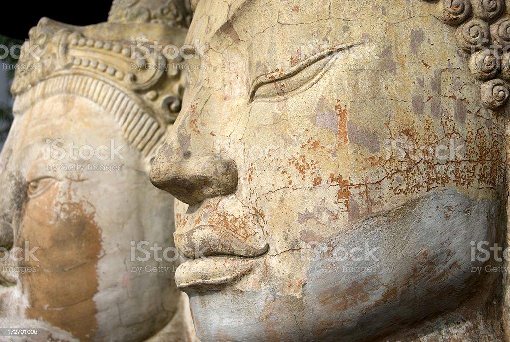 Buddha(s) faces stock photo