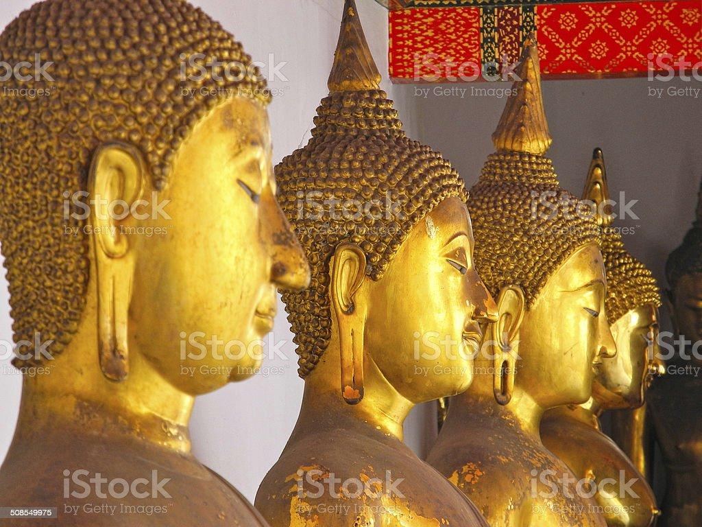 Buddha Faces stock photo