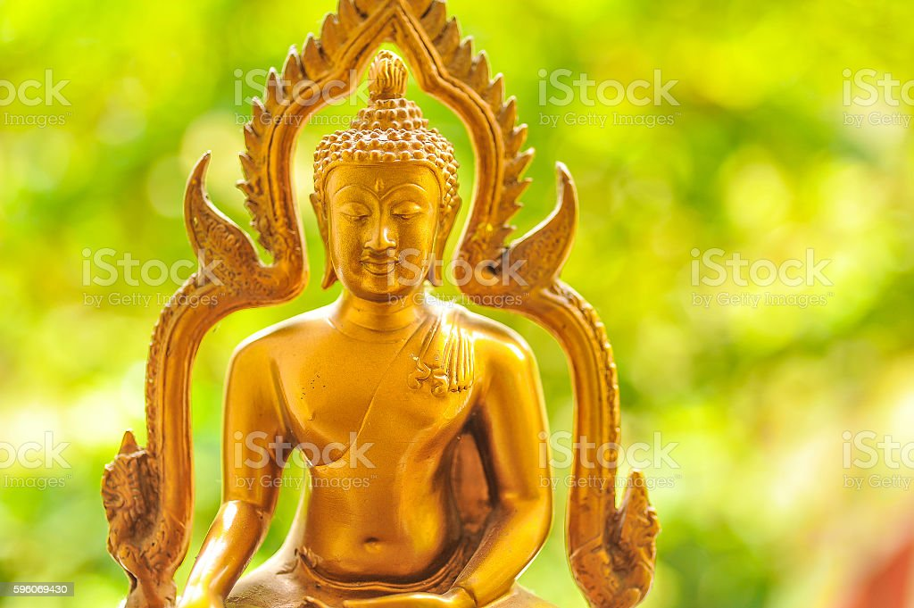 Buddha gold statue close-up royalty-free stock photo