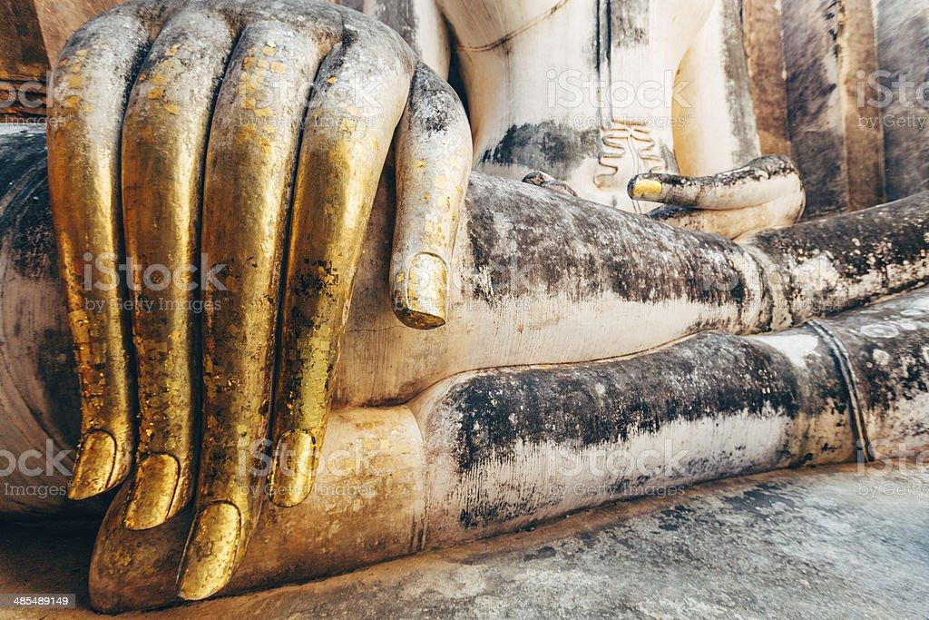Buddha Hand in Sukhothai, Thailand royalty-free stock photo
