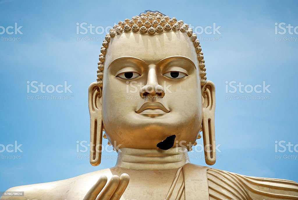 Buddha head at Golden Temple, Dambulla, Sri Lanka stock photo