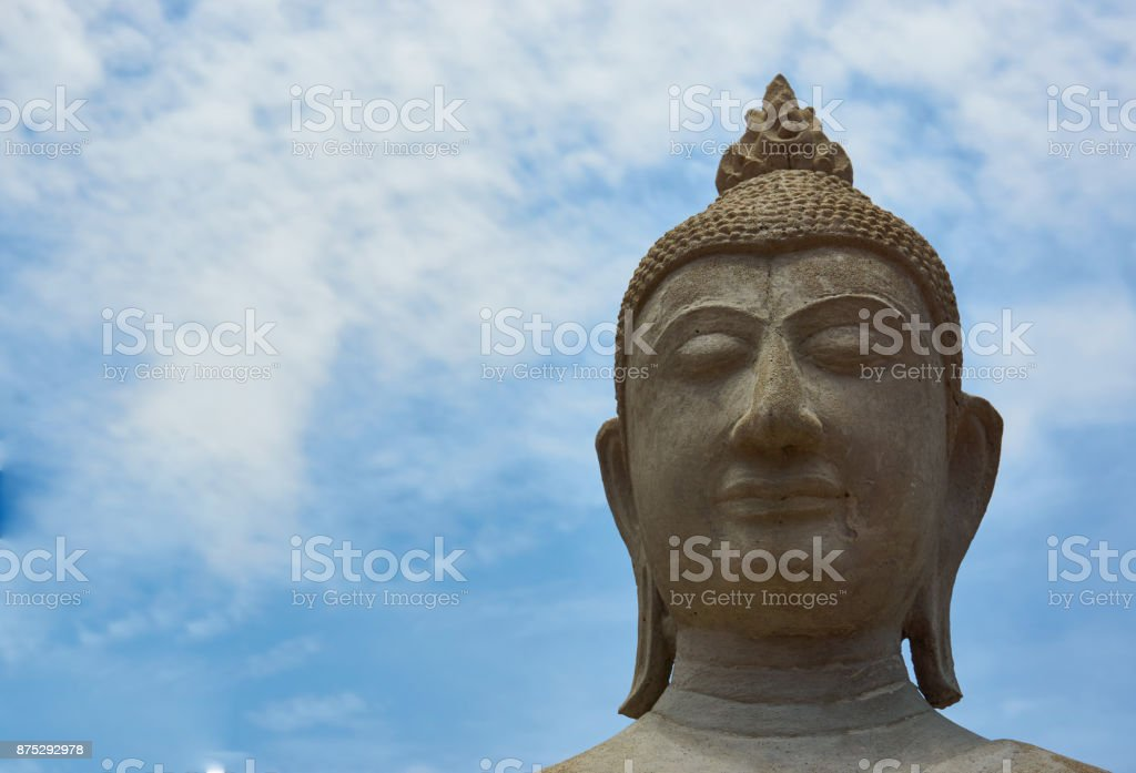 Buddha head in Asia Thailand stock photo