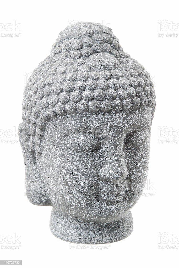 Buddha Head Isolated stock photo
