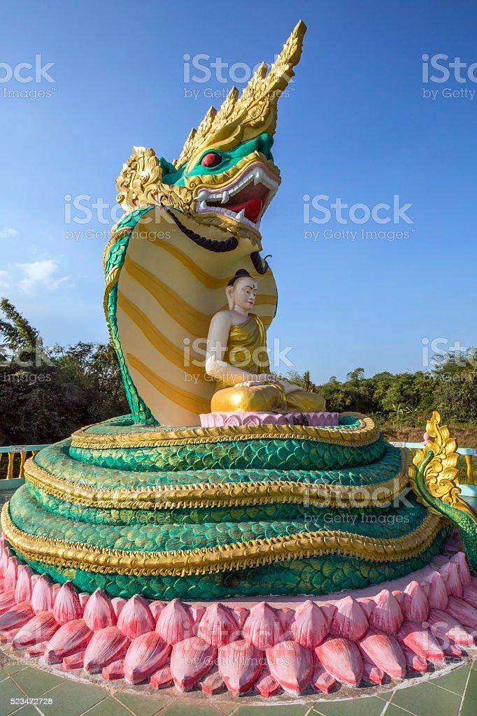 Buddha Image - Bago - Myanmar stock photo