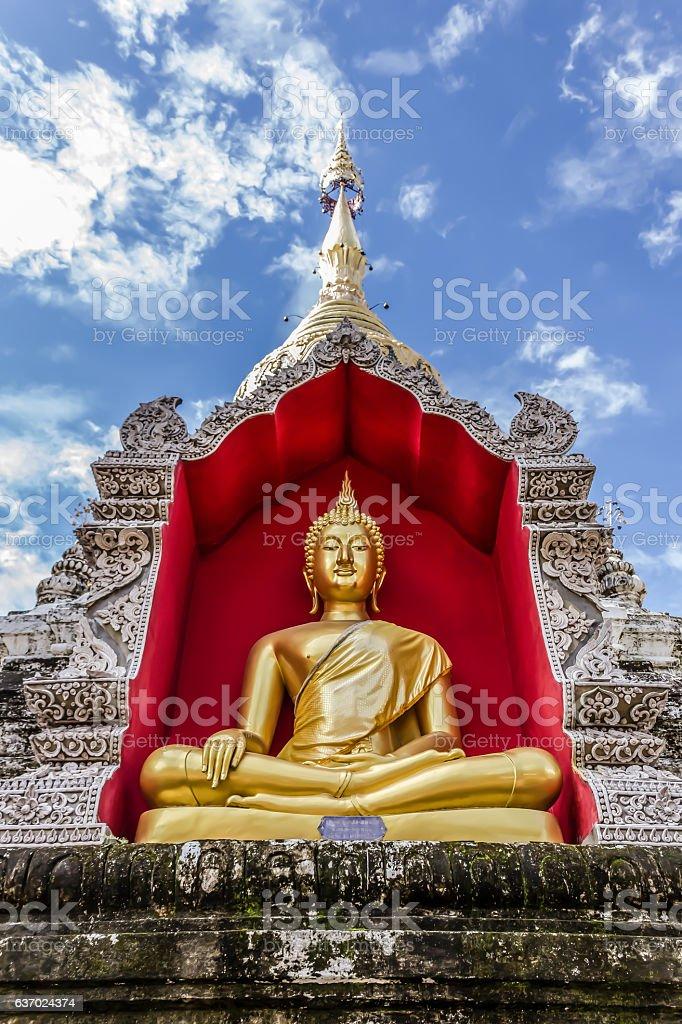 Buddha Image in Chiangmai, Thailand stock photo