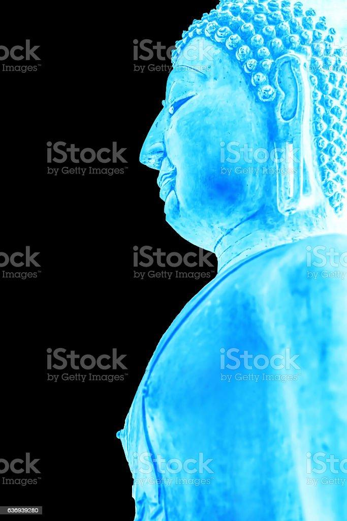 Buddha Image in Emerald Color stock photo