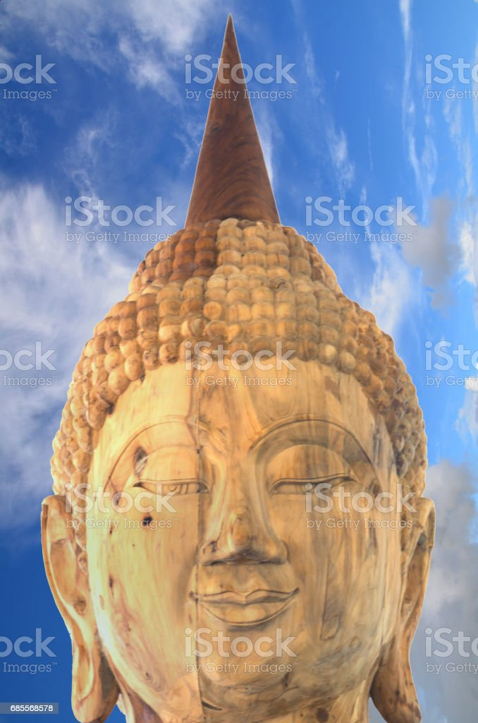 Buddha image on a cloud background as a wallpaper royalty-free 스톡 사진