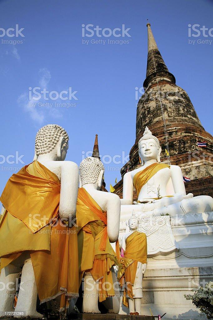 Buddha images in Ayutthaya Thailand stock photo