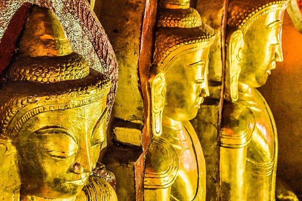 buddha bilder in pindaya höhle, myanmar - aurum stock-fotos und bilder