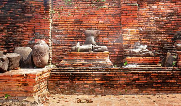 Buddha  in Ayutthaya stock photo