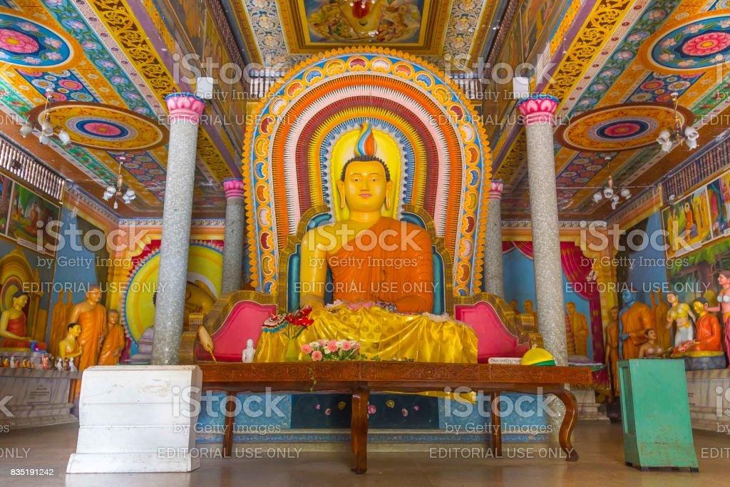Buddha in Bandarawela Buddhist Temple on Sri Lanka stock photo