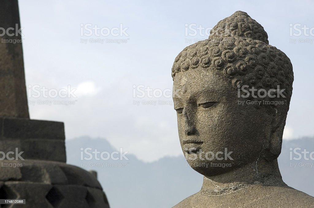 Buddha in Borobudur Java Indonesia royalty-free stock photo