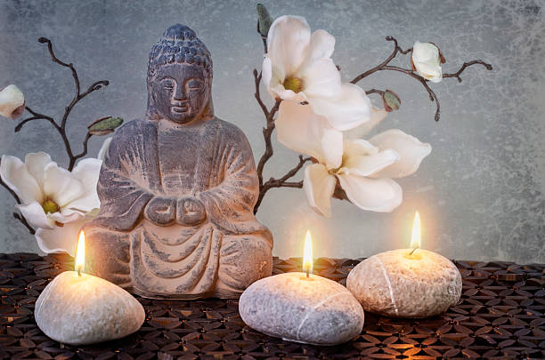 Buddha in meditation stock photo