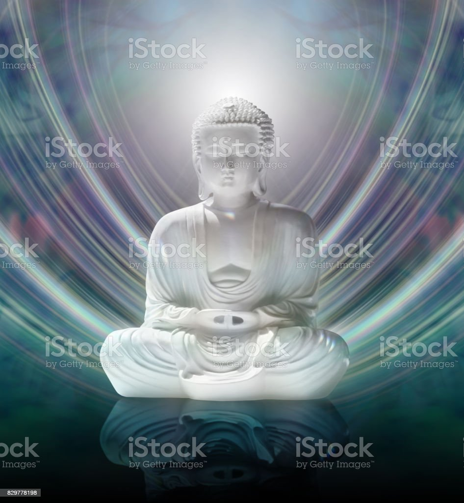 Buddha in Mindful Meditation stock photo