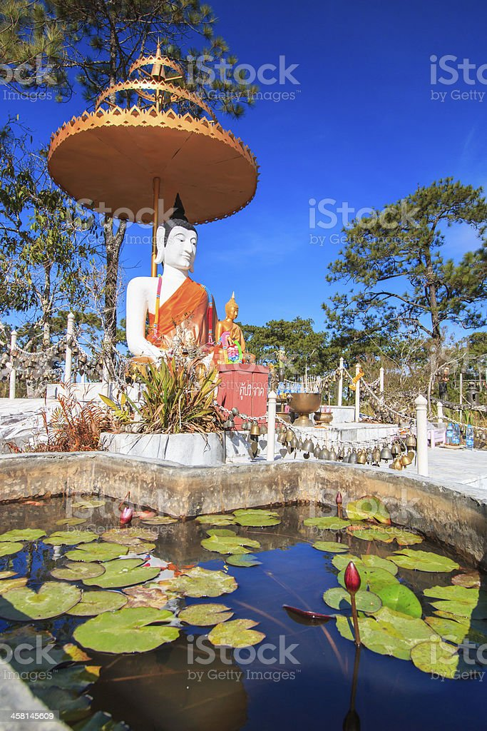 Buddha in Phu Kradueng National Park Loei Thailand royalty-free stock photo