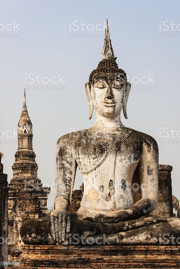 Buddha in Sukhothai, Thailand royalty-free stock photo