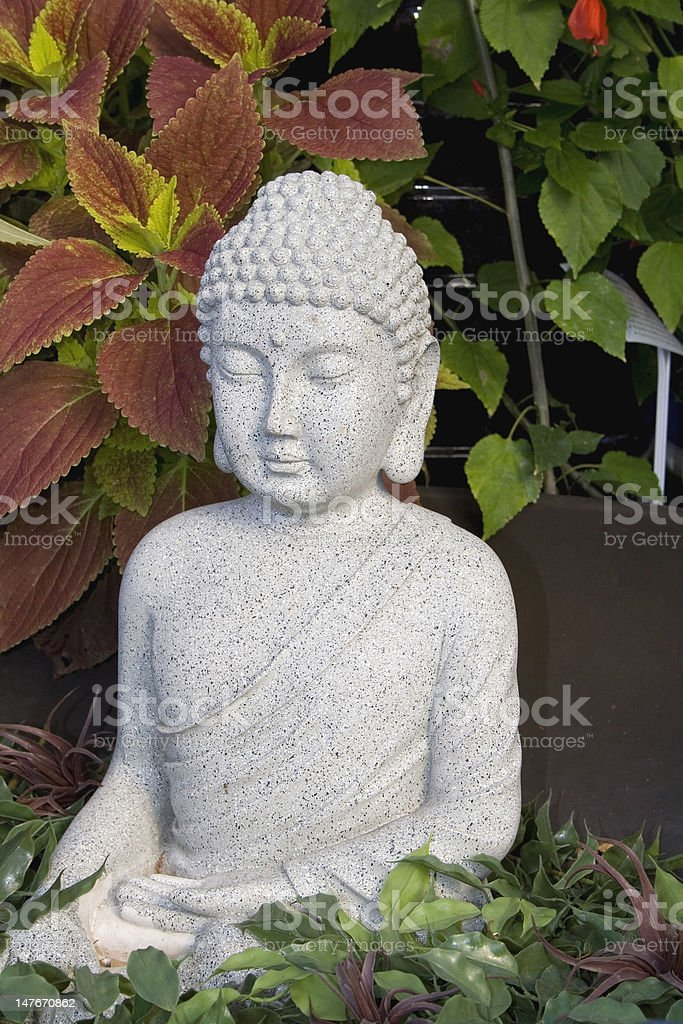Buddha In the Garden stock photo