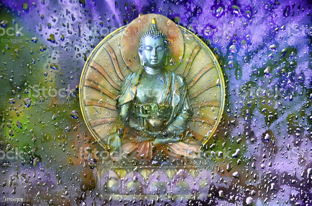 Buddha in the Mist royalty-free stock photo