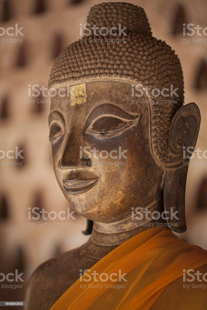 Buddha in Wat Si Saket, Vientiane, Laos stock photo