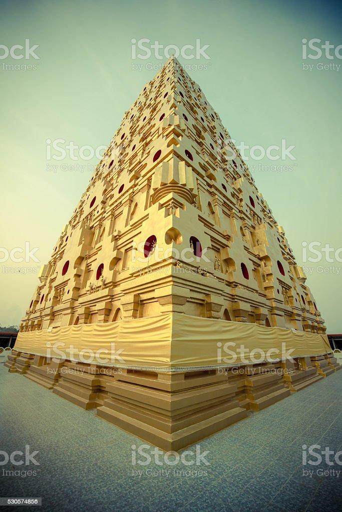 Buddha Kaya Pagoda in Thailand stock photo