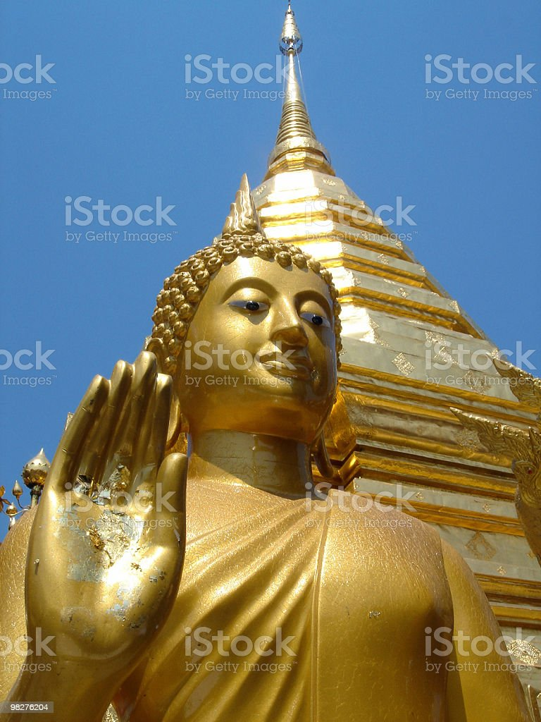 Buddha looks at me royalty-free stock photo