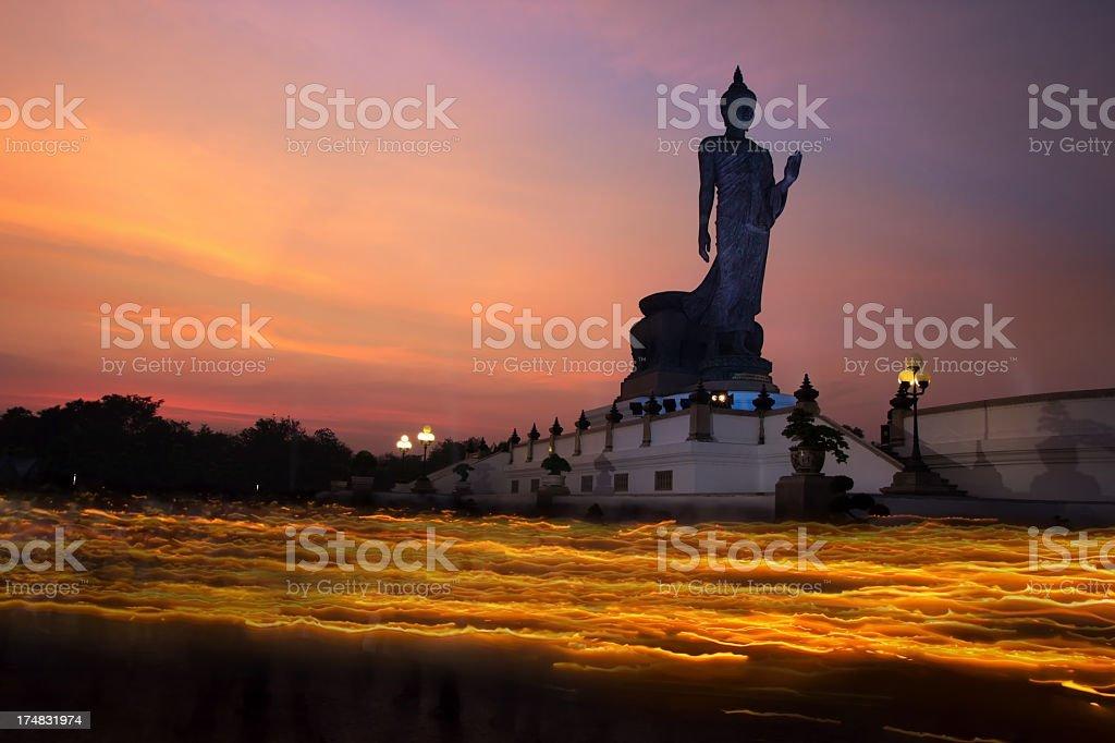 Buddha Magha Puja Day stock photo