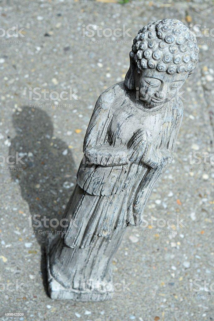 Buddha of grey stone royalty-free stock photo