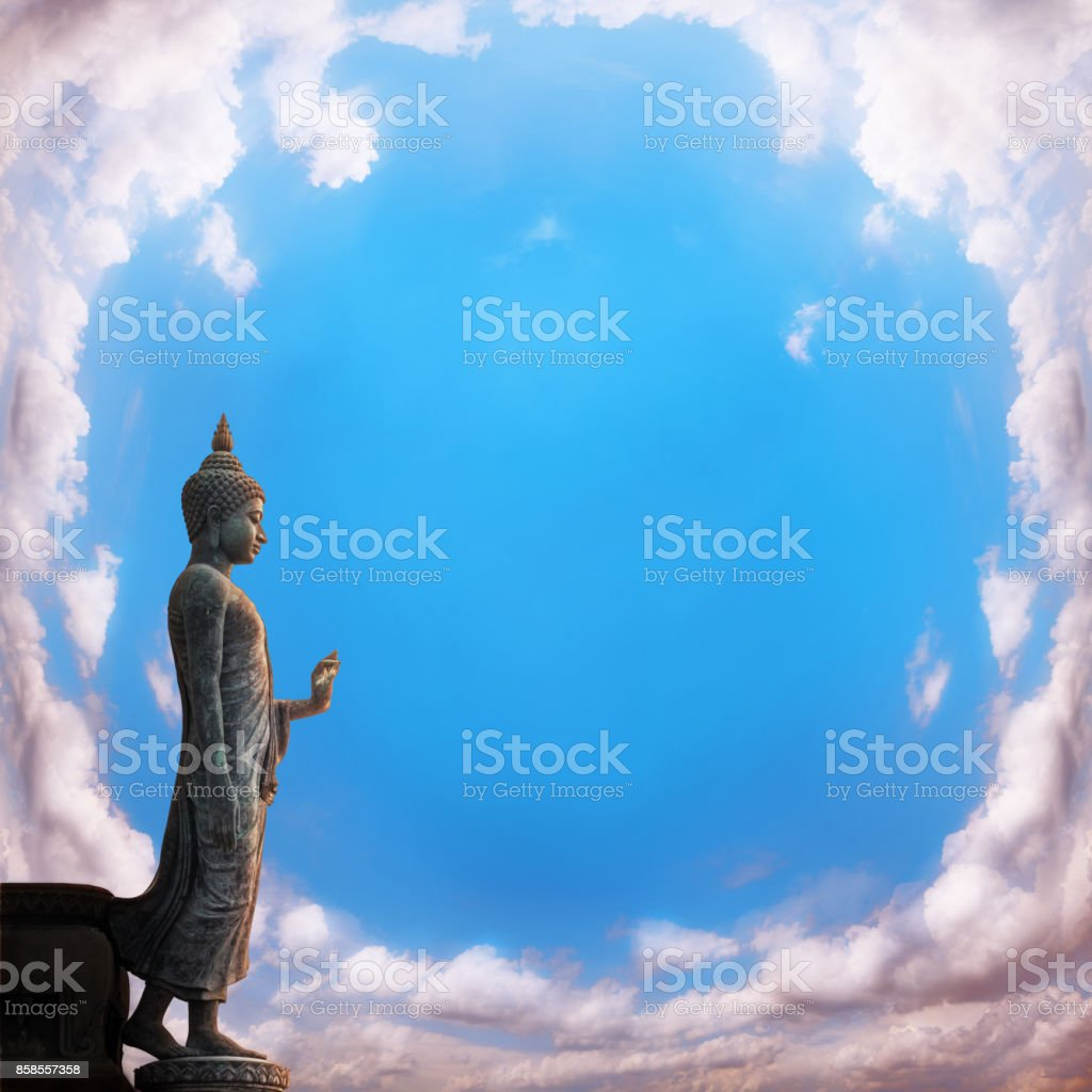Buddha of statue stock photo