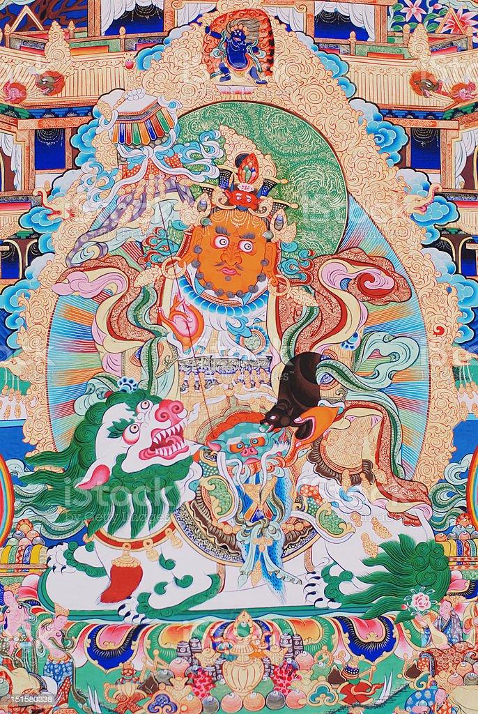 buddha of thangka royalty-free stock photo