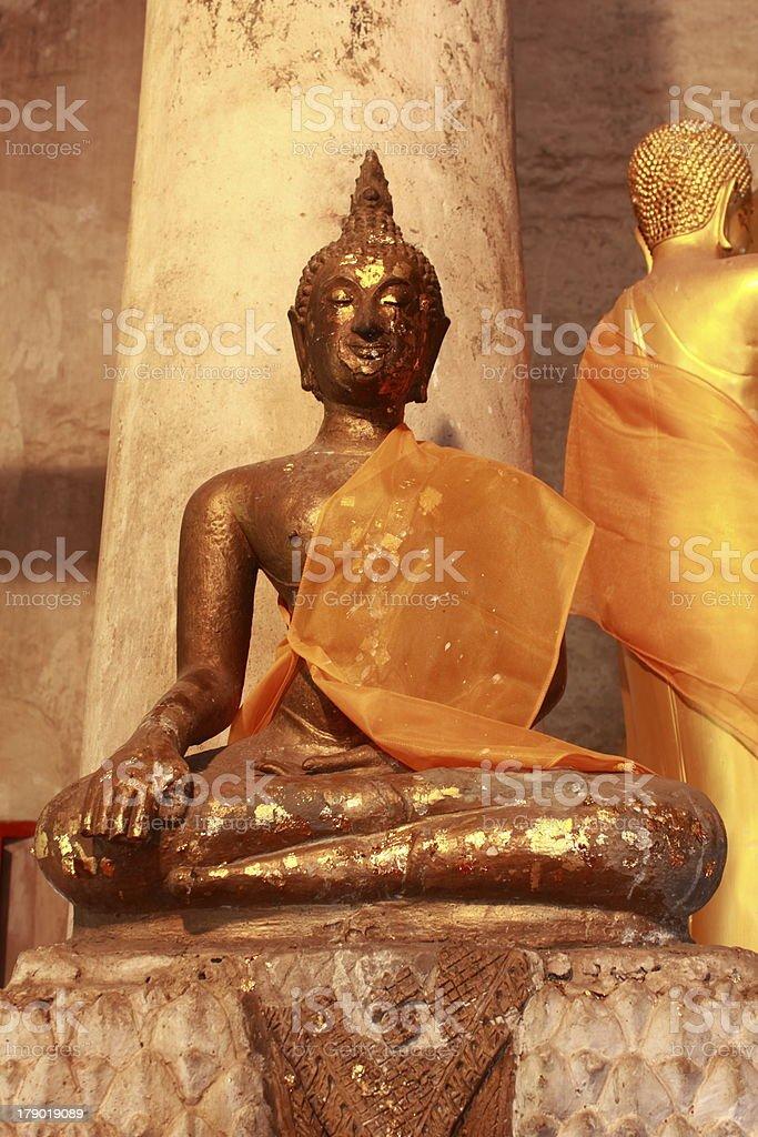 Buddha of Wat Borommathad Thung Yuag,Thailand. royalty-free stock photo