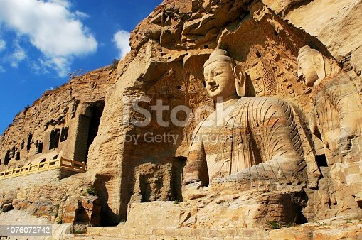 Buddha of Yungang buddhist caves in Shanxi, China.