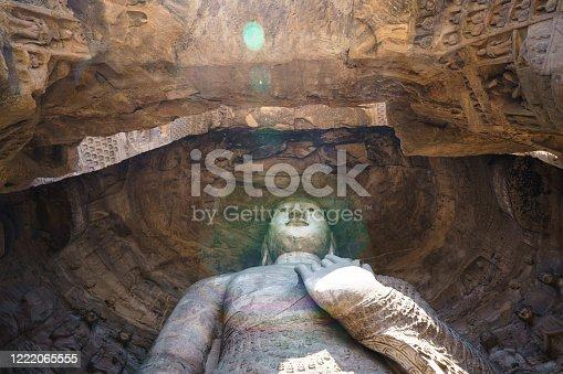 Buddha of Yungang buddhist caves in Shanxi, China