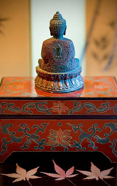 Buddha on a Red Box stock photo